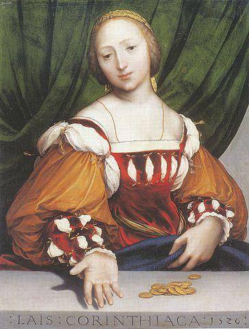 Lais de Corinto Hans Holbein o Novo