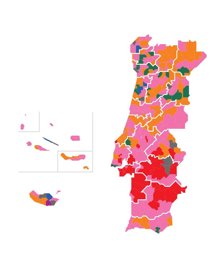 Mapa das Eleições autárquicas de 2013 - no Público